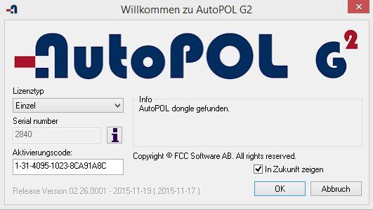 AutoPOL startscreen